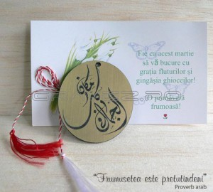 martisor cu proverb in araba stilizat artistic