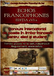 Concurs poezie Echos Francophones