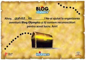 diploma BlogOlympics