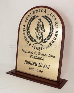 Placa_pentru_Jubileu_20_ani_-_Universitatea_Petre_Andrei_Iasi