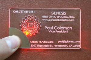 light bussiness card Coleman