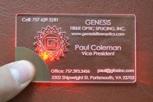 light bussiness card Coleman