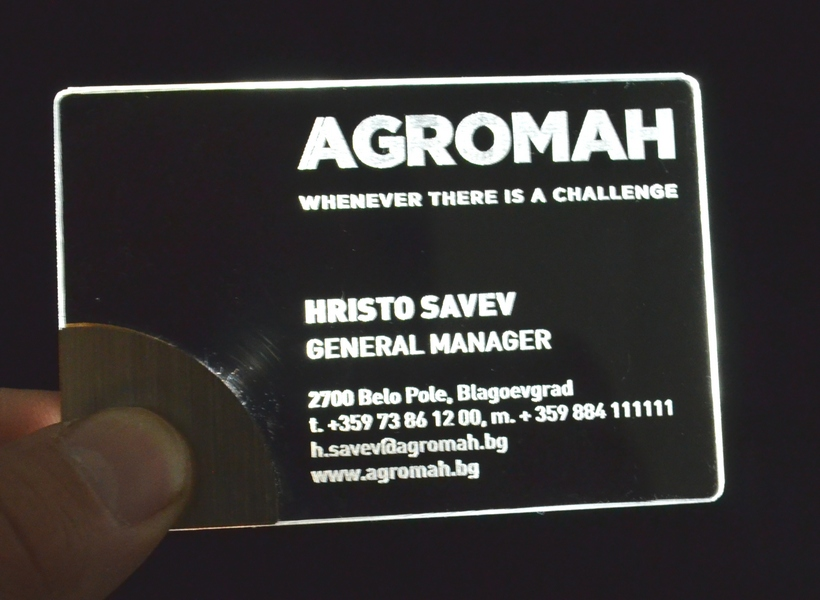 business card LED